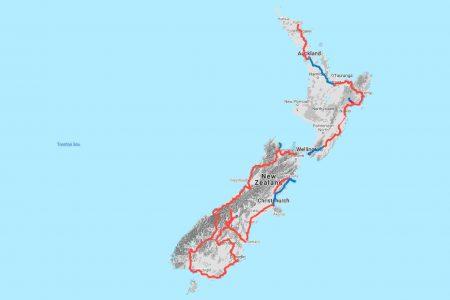 Track Nieuw Zeeland Reisfietsers.nl